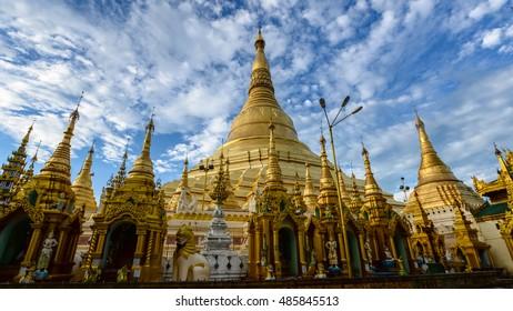 Shwedagon Paya is the most sacred golden buddhist pagoda in Myanmar. Yangon, Myanmar Paya is the most sacred golden buddhist pagoda in Myanmar. Yangon, Myanmar