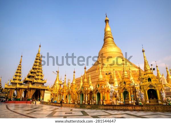 Pagode de Shwedagon Paya, célèbre lieu sacré du Myanmar et attraction touristique.Yangon, Myanmar