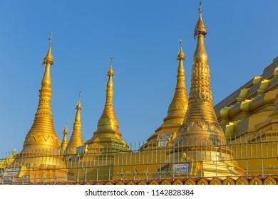 Shwemawdaw pagoda, the tallest and beautiful pagoda in Bago, Myanmar