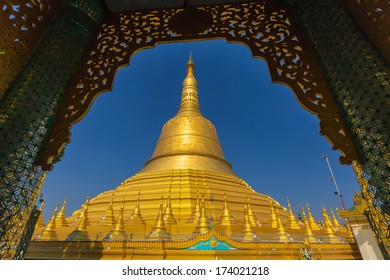 Shwemawdaw pagoda, the tallest pagoda and beautiful in Bago, Myanmar