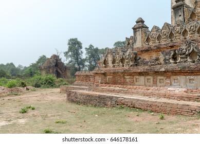 Shwenandaw Kyaung Temple Mandalay, Myanmar Mar 2017