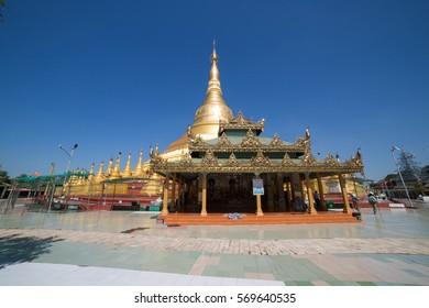 The Shwesandaw pagoda of Twante, is located  near to Yangon, Myanmar
