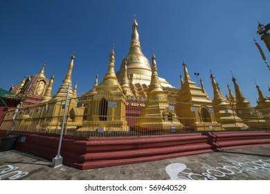 Shwesandaw pagoda in Twante, Myanmar