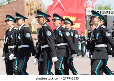 SHYMKENT city, KAZAKHSTAN MAY 9, 2015: Gala concert with the participation of the military, the Victory Day, in memory of the soldiers of the Great Patriotic War.