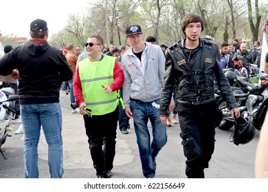 Shymkent, KAZAKHSTAN - APRIL 15, 2017: Bikes on the Opening of biker season in Shymkent, APRIL 15, 2017