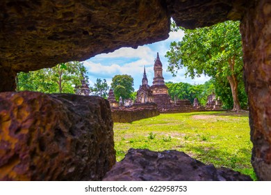 Si Satchanalai Historical Park in Sukhothai Province Thailand. It's one of the most historical parks in Thailand