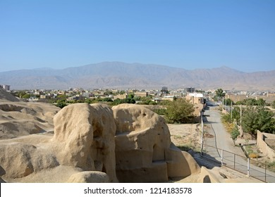 SIALK (KASHAN), IRAN - AUGUST 30: Ancient ziggurat at 30 August, 2018 at Sialk (Kashan), Iran. Ziggurats were Mesopotanian funeral places, but their origin is in mystery.