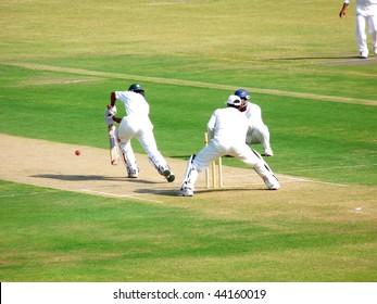 SIALKOT, PAKISTAN - OCTOBER 22: Quaid-e-Azam Trophy First Class Cricket Match Played Between Sialkot & Multan Teams at Jinnah Cricket Stadium October 22, 2009 in Sialkot, Pakistan