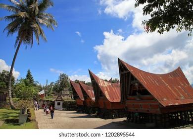 Siallagan Village, Samosir Island, northern Sumatra, Indonesia april 16 2018