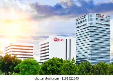Siam Cement Group (SCG) head office building at Bang Sue SCG is the largest cement company in Thailand. 14 August 2018 Bangkok, Thailand.