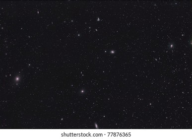 The Siamese Twins, M58 and M90, Galaxies in the Constellation Virgo