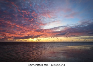 Siargao Beach Sunset, and Sea Ripples - Philippines