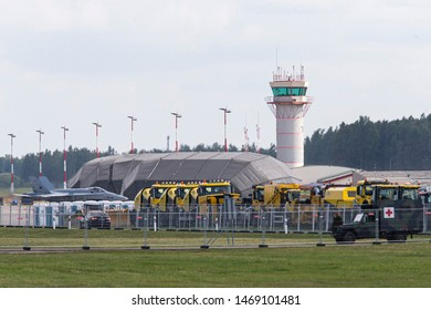 Siauliai/Lithuania July 27, 2019 Air traffic control (ATC) tower