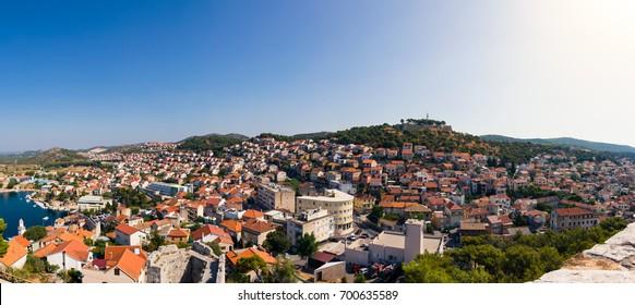 Sibenik Croatia European Vacation Destination City Landscape Ocean Summer Sightseeing