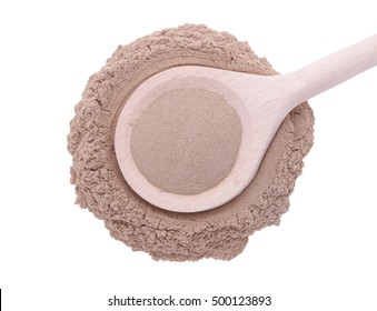 Siberian Ginseng Powder in wooden spoon