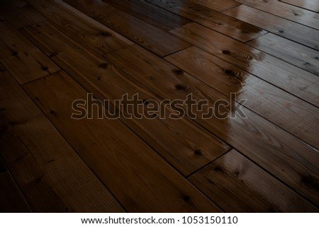 Siberian Larch Wood Planks Painted Brown Stock Photo Edit Now