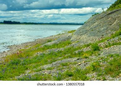 Siberian river Tom near the village  Itkara, Kemerovo region