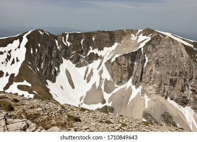 the Sibillini Mountains seen from the summit of Monte Vettore