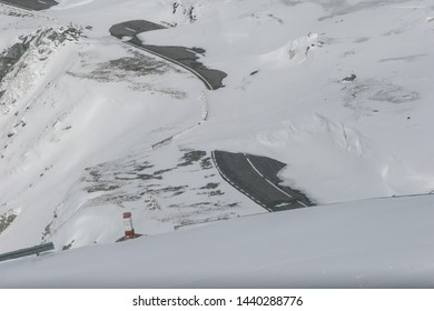 SIBIU, ROMANIA - March 13, 2010: Transfagarasan road covered with snow.