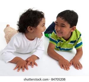 Siblings Sharing a Laugh