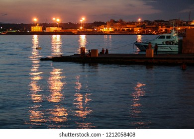 At Sicasua - Italy on august 2010 - The harbor of Siracusa at sunset
