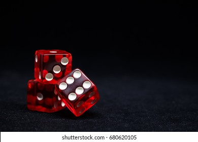 Sicbo dice on black background