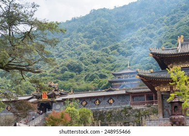 SICHUAN, CHINA - SEP 13 2014: Lingshan Temple. a famous Temple in Mianning, Xichang, Sichuan, China.