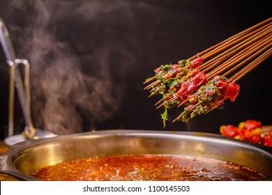 Sichuan hot pot chuanchuan, Chengdu Chongqing string