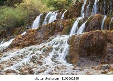 Sichuan Huanglong Waterfall