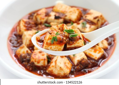 sichuan mapo tofu, chinese food
