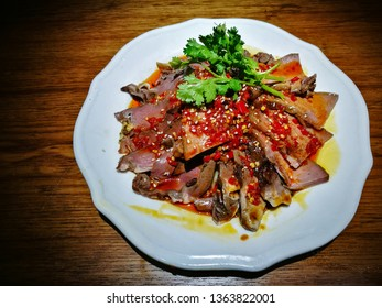 Sichuan numbness spicy cuisine Fuqi feipian - a Sichuan famous dish that made of ox's parts