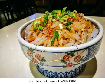 Sichuan numbness spicy cuisine Steamed cold noodle with Sichuan spicy sauce