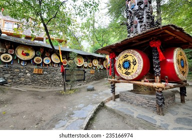 Sichuan,China - October 27, 2013: Pingtou Qiang Culture Village which is located in Maoxian Sichuan China