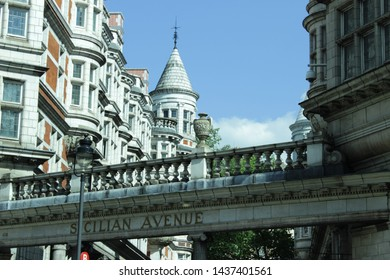 Sicilian Avenue is a pedestrian shopping parade in Bloomsbury, London, resembling an open air arcade,that diagonally runs in between Southampton Row and Bloomsbury Way.