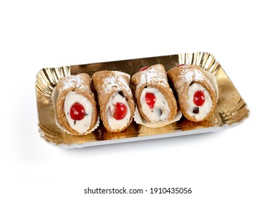 Sicilian cannoli typical regional dessert