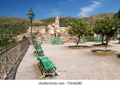 Sicilian historical mountain city, Novara di Sicilia