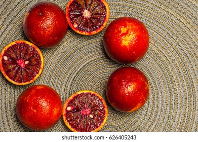 Sicilian orange, ruby red oranges
