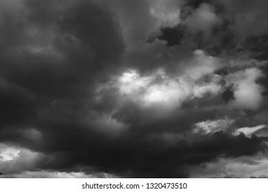 Sicilian Sky Black and White