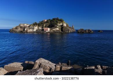 Sicily, Italy: beautiful Lachea Island in Aci Trezza (near Catania) during a sunny summer day.