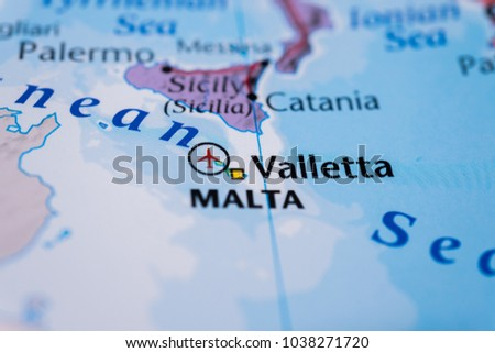 Sicily On Map Stock Photo (Edit Now) 1038271720 - Shutterstock