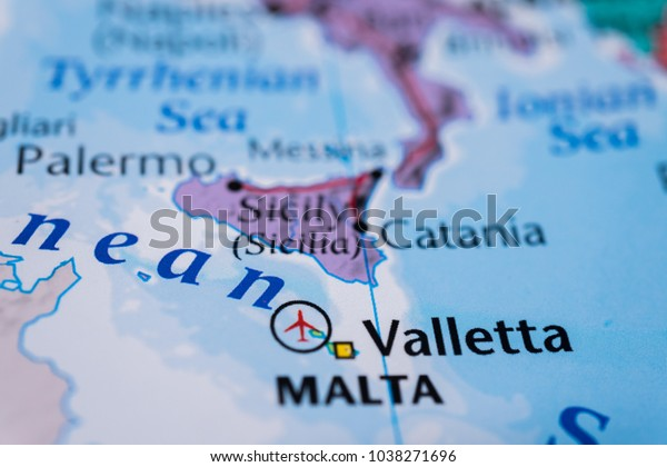 Sicily On Map | Royalty-Free Stock Image