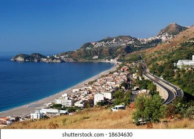 Sicily seaside resort Letojanni
