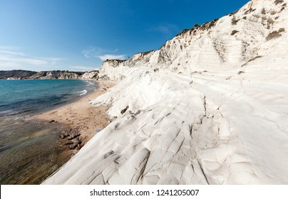 Sicily white beach of Scala dei Turchi