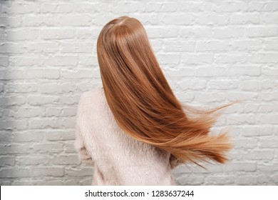 Sick, cut and healthy hair after treatment.