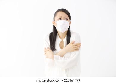 Sick japanese woman