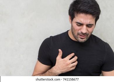 sick man with acid reflux or gerd