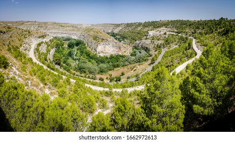 sickles of the river Jucar in the province of Albacete