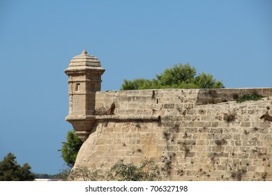 Side of an ancient fortress in Palma Spain