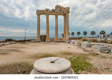 Side, Antalya - Turkey.The Temple of Apollo in Side, Antalya - Turkey