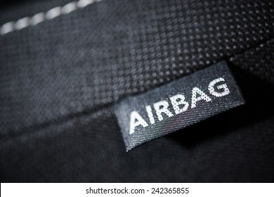 Side Car Airbag Tag. Modern Car Safety Feature. Transportation Technologies.